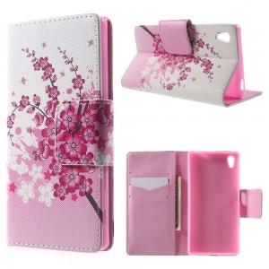 Sony Xperia Z5 - etui na telefon i dokumenty - Kwiaty 1