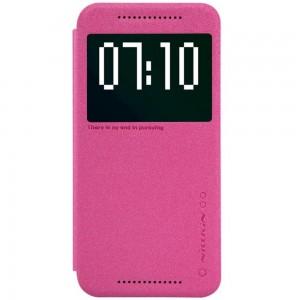 HTC One M9 - etui na telefon - Nillkin Sparkle ciemnoróżowe