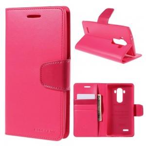 LG G4 H815 - etui na telefon i dokumenty - Sonata ciemnoróżowe