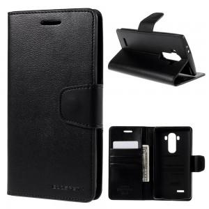 LG G4 H815 - etui na telefon i dokumenty - Sonata czarne