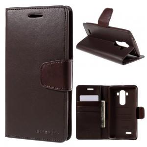 LG G4 H815 - etui na telefon i dokumenty - Sonata brązowe