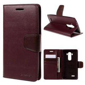 LG G4 H815 - etui na telefon i dokumenty - Sonata wino czerwone