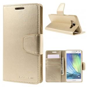 Samsung Galaxy A5 - etui na telefon i dokumenty -Sonata złote