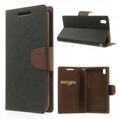 HTC Desire 816 - etui na telefon i dokumenty - Fancy czarne