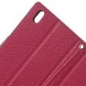 HTC Desire 816 Portfel Etui – Fancy Ciemny Różowy