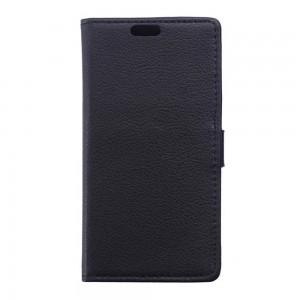 Huawei G8 - etui na telefon i dokumenty - Litchi czarne