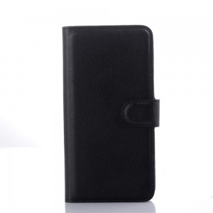 HTC Desire 626 - etui na telefon i dokumenty - Litchi czarne