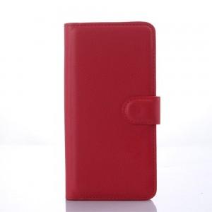 HTC Desire 626 - etui na telefon i dokumenty - Litchi czerwone