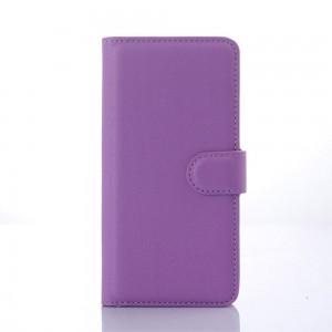 HTC Desire 626 - etui na telefon i dokumenty - Litchi purpurowe