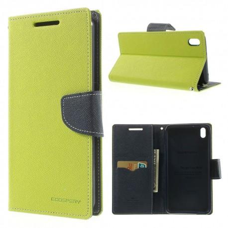 HTC Desire 816 - etui na telefon i dokumenty - Fancy zielone