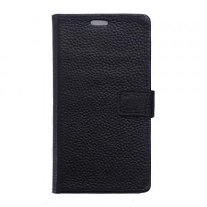 LG Nexus 5X - etui skórzane na telefon i dokumenty - Litchi czarne