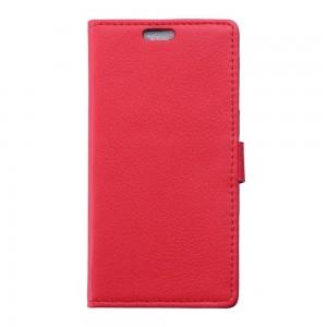 Microsoft Lumia 950 - etui na telefon i dokumenty - Litchi czerwone