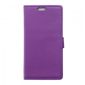 Microsoft Lumia 950 - etui na telefon i dokumenty - Litchi purpurowe
