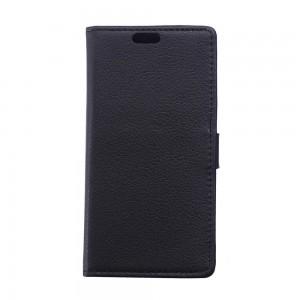 Huawei Honor 4C - etui na telefon i dokumenty - Litchi czarne