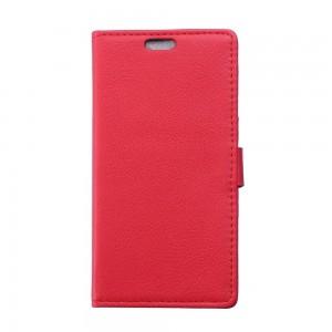Huawei Honor 4C - etui na telefon i dokumenty - Litchi czerwone