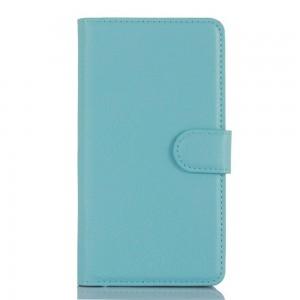 LG Zero H650 - etui na telefon i dokumenty - Litchi niebieskie