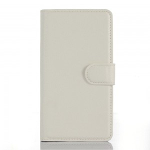 LG Zero H650 - etui na telefon i dokumenty - Litchi białe