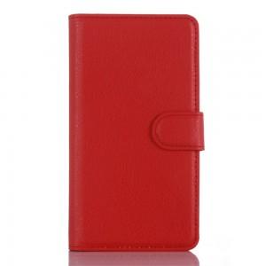 LG Zero H650 - etui na telefon i dokumenty - Litchi czerwone