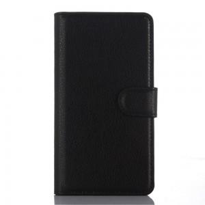 LG Zero H650 - etui na telefon i dokumenty - Litchi czarne