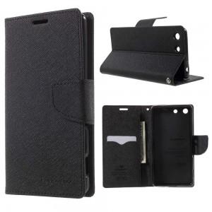 Sony Xperia M5 - etui na telefon i dokumenty - Fancy czarne