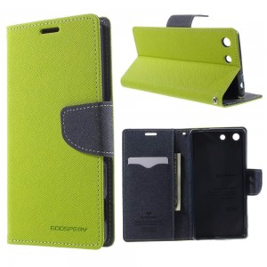 Sony Xperia M5 - etui na telefon i dokumenty - Fancy zielone