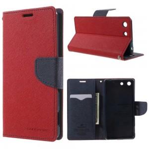 Sony Xperia M5 - etui na telefon i dokumenty - Fancy czerwone
