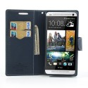 HTC One Max Portfel Etui – Fancy Cyjan
