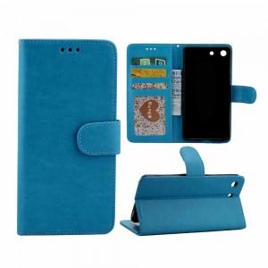 Sony Xperia M5 - etui na telefon i dokumenty - CH niebieskie