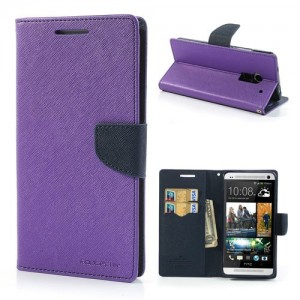 HTC One Max - etui na telefon i dokumenty - Fancy purpurowe