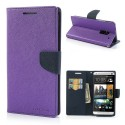 HTC One Max Portfel Etui – Fancy Purpurowy
