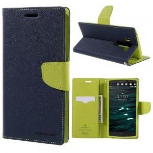 LG V10 - etui na telefon i dokumenty - Fancy Goospery niebieskie