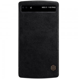 LG V10 - etui na telefon - Nillkin Qin Series czarne