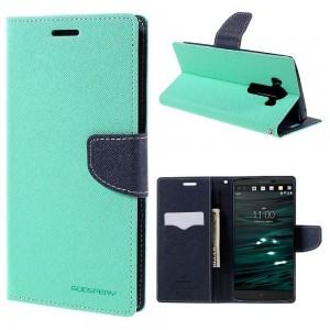 LG V10 - etui na telefon i dokumenty - Fancy Goospery cyjan