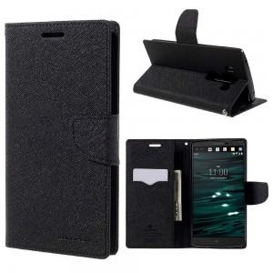 LG V10 - etui na telefon i dokumenty - Fancy Goospery czarne