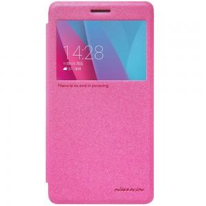 Huawei Honor 5X - etui na telefon - Nillkin Sparkle różowe