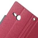 HTC One Mini 2 Portfel Etui – Fancy Ciemny Różowy