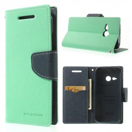 HTC One Mini 2 - etui na telefon i dokumenty - Fancy cyjan