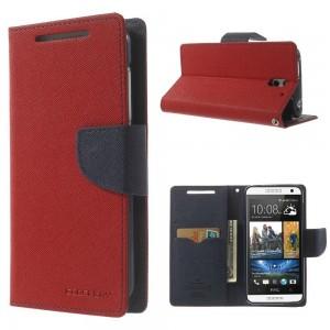 HTC Desire 610 - etui na telefon i dokumenty - Fancy czerwone