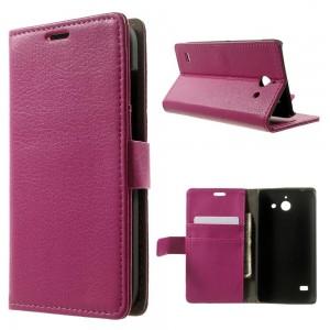 Huawei Ascend Y550 - etui na telefon i dokumenty - Litchi różowe
