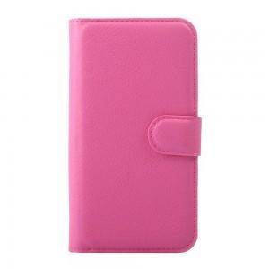 Huawei Y5 - etui na telefon i dokumenty - różowe