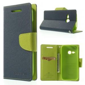 HTC One Mini 2 - etui na telefon i dokumenty - Fancy niebieske