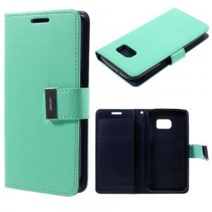 Samsung Galaxy S7 - etui na telefon i dokumenty - Rich Diary cyjan