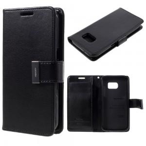Samsung Galaxy S7 - etui na telefon i dokumenty - Rich Diary czarne