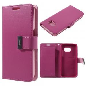 Samsung Galaxy S7 - etui na telefon i dokumenty - Rich Diary ciemnoróżowe