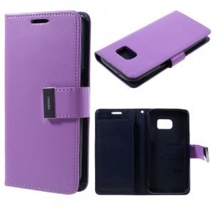 Samsung Galaxy S7 - etui na telefon i dokumenty - Rich Diary purpurowe