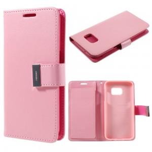 Samsung Galaxy S7 - etui na telefon i dokumenty - Rich Diary różowe