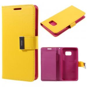 Samsung Galaxy S7 - etui na telefon i dokumenty - Rich Diary żółte