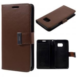 Samsung Galaxy S7 - etui na telefon i dokumenty - Rich Diary brązowe