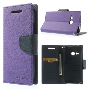 HTC One Mini 2 - etui na telefon i dokumenty - Fancy purpurowe
