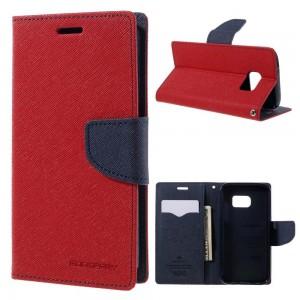 Samsung Galaxy S7 - etui na telefon i dokumenty - Fancy czerwone